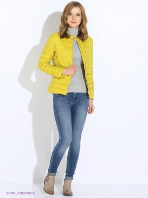 Куртка Sisley. Цвет: горчичный