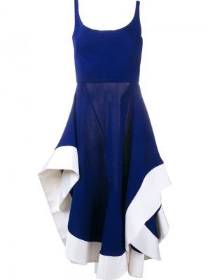 Платье на бретельках Esteban Cortazar. Цвет: синий