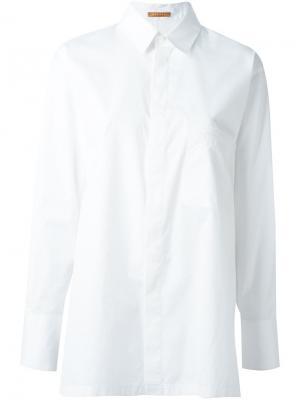 Свободная рубашка Nehera. Цвет: белый