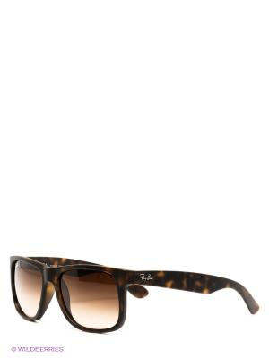 Очки солнцезащитные JUSTIN Ray Ban. Цвет: темно-коричневый, коричневый