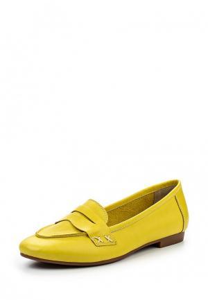 Лоферы Tucino. Цвет: желтый