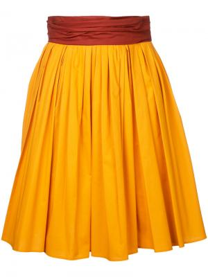 Пышная юбка Paule Ka. Цвет: жёлтый и оранжевый