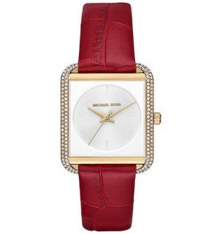 Часы с кожаным браслетом Michael Kors