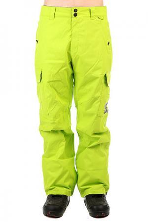 Штаны сноубордические DC Banshee Tender Shots Shoes. Цвет: зеленый
