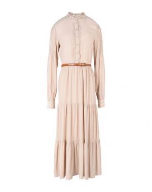 Платье длиной 3/4 KORALLINE. Цвет: бежевый