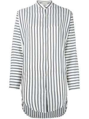 Рубашка-туника в полоску Studio Nicholson. Цвет: серый