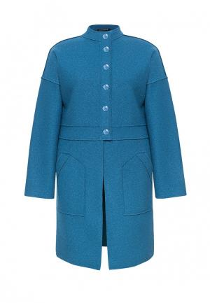 Пальто Lucky Move. Цвет: голубой