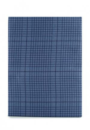 Комплект постельного белья Евро Хлопковый Край. Цвет: синий