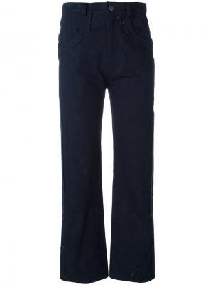 Укороченные брюки Posy Damir Doma. Цвет: синий