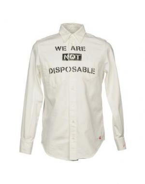 Джинсовая рубашка VIVIENNE WESTWOOD ANGLOMANIA. Цвет: белый