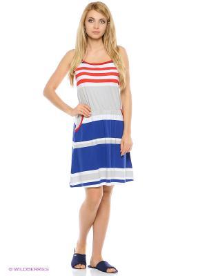 Сарафан Mojo Collection. Цвет: белый, синий, красный