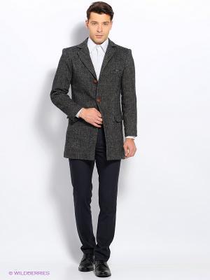 Пальто Пряник. Цвет: серый