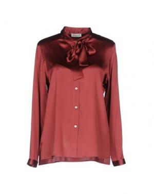 Pубашка ROSSO35. Цвет: красно-коричневый