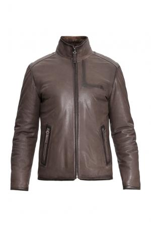 Дубленка 154863 Mondial. Цвет: коричневый
