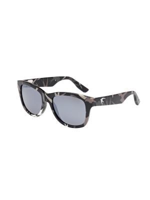 Солнцезащитные очки McQueen. Цвет: коричневый, черный