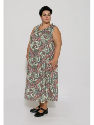 Ночная сорочка EVGENIA STYLE. Цвет: салатовый