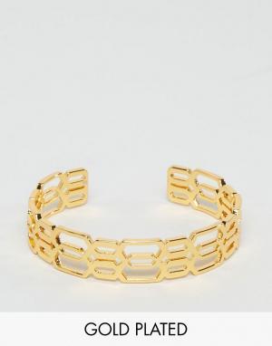 Gorjana Позолоченный браслет-манжета Layla. Цвет: золотой