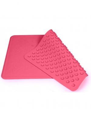 Коврик для ванны нескользящий - 34x55см, цвет: розовый Canpol babies. Цвет: розовый