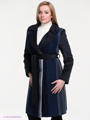 Пальто Klimini. Цвет: темно-синий