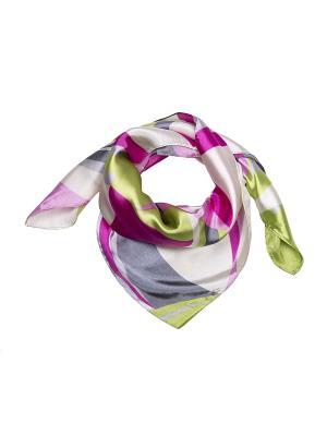 Платок шейный Модные истории. Цвет: серый, розовый