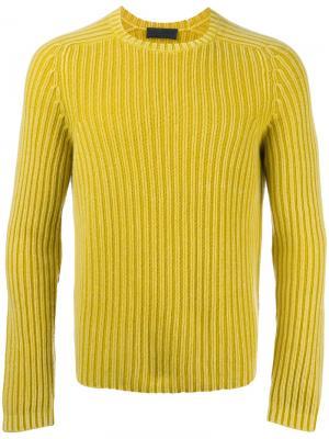 Джемпер ребристой вязки Iris Von Arnim. Цвет: жёлтый и оранжевый