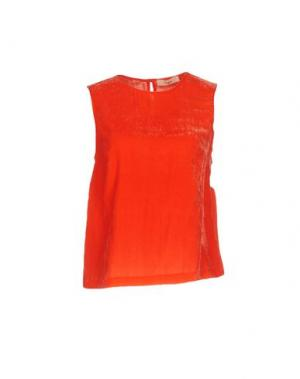 Топ без рукавов SUOLI. Цвет: оранжевый