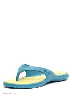 Пантолеты Rider. Цвет: морская волна, желтый