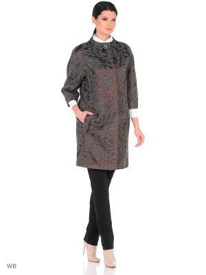 Пальто Lea Vinci. Цвет: серо-коричневый