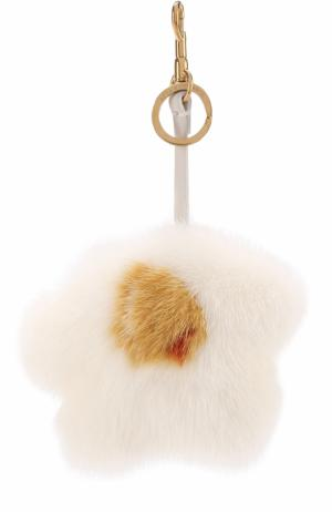 Брелок из меха норки Anya Hindmarch. Цвет: белый