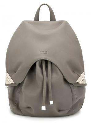 Рюкзак с тиснением логотипа Valas. Цвет: серый