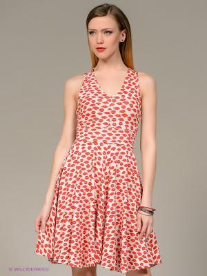 Платье Isabel de Pedro. Цвет: молочный, красный