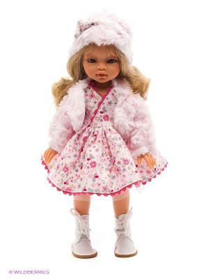 Кукла Эмили зимний образ, блондинка, 33 см Antonio Juan. Цвет: бледно-розовый