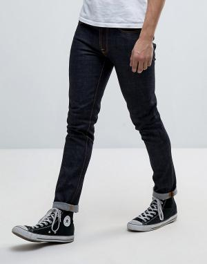 Nudie Jeans Темные джинсы Co Lean Dean. Цвет: темно-синий