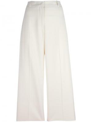 Укороченные брюки палаццо Ermanno Scervino. Цвет: белый