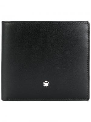 Бумажник с логотипом Montblanc. Цвет: чёрный