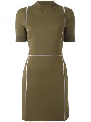 Облегающее платье Courrèges. Цвет: зелёный