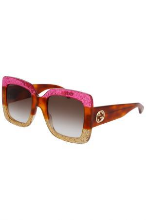 Солнцезащитные очки Gucci. Цвет: 002