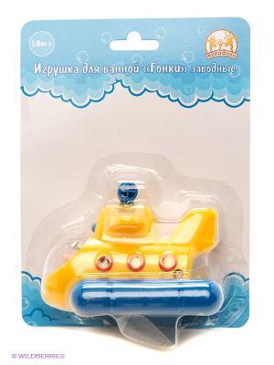 Игрушка для ванной Гонки. Лодка Жирафики. Цвет: желтый