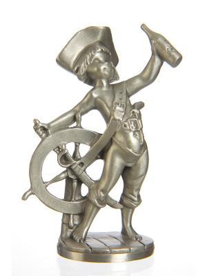 Cтатуэтка Пират с бутылкой Рома . Eagle Pewter. Цвет: серебристый