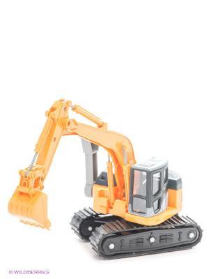 Строительная машина Мини-экскаватор DREAM MAKERS. Цвет: желтый, серый