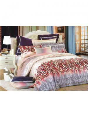 Комплект постельного белья ROMEO AND JULIET. Цвет: черный, бежевый, коралловый, красный