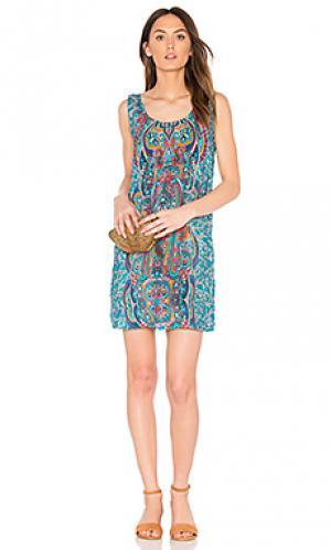Мини платье rita Tolani. Цвет: сине-зеленый