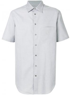 Рубашка в полоску с короткими рукавами Armani Collezioni. Цвет: серый