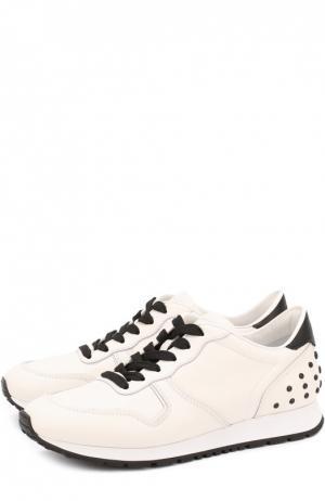 Кожаные кроссовки Sportivo на шнуровке Tod's. Цвет: белый