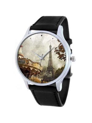 Дизайнерские часы Парижские Retro Tina Bolotina. Цвет: темно-коричневый, серый