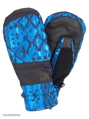 Варежки DC Shoes. Цвет: синий