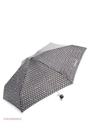 Зонт Плитки Isotoner. Цвет: серый