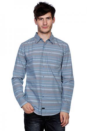 Рубашка  Reaction Grey Krew. Цвет: оранжевый,бежевый,голубой