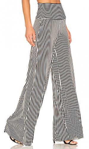 Широкие брюки с вертикальными полосками Norma Kamali. Цвет: black & white