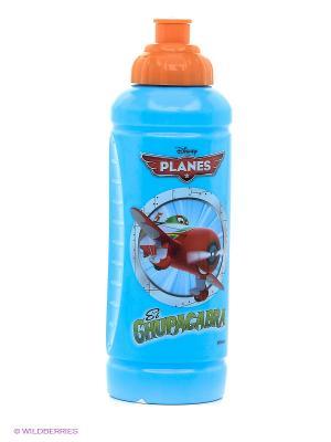 Бутылка спортивная Самолеты Trudeau. Цвет: голубой, светло-оранжевый